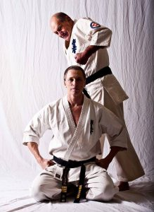 Hanshi Steve Arneil passing knowledge to Shihan David Pickthall