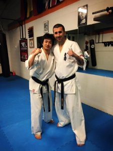 Nori with Sensei Fogarasi