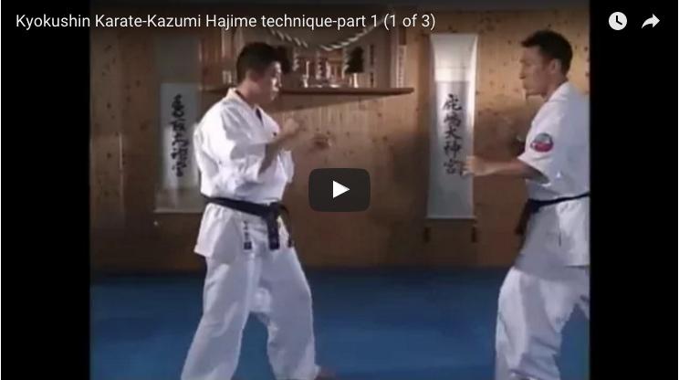 Kyokushin Karate – Kazumi Hajime Technique