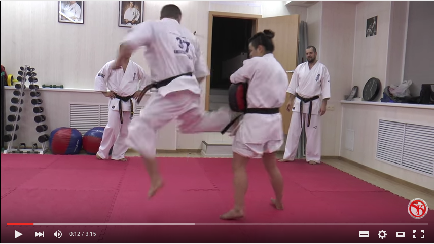 Ushiro geri from the clinch, with Andrey Chirkov