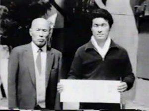 Kancho Royama with his teacher Sensei Kenichi Sawai