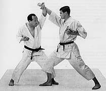 "Mas Oyama and Christopher Caile, in Mas Oyama's book, ""This Is karate."""